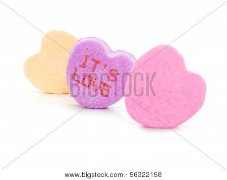 Valentines Gespräch Herzen
