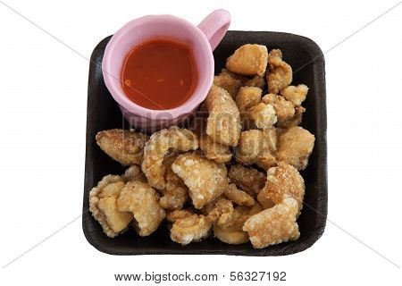 Fried Pork Rinds With Sauce