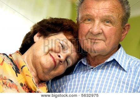 Happy, Romantic Senior Couple