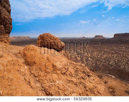 Rocky Landscape Of Damaraland - View From Vingerklip