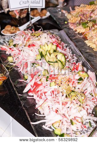 Surimi Salad - Close Up