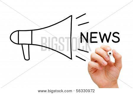 Conceito de megafone notícias