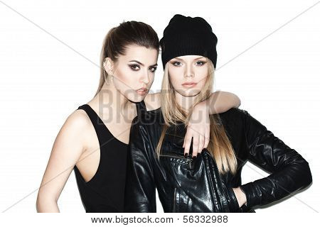 Two Young Girl Friends