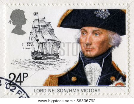 Vintage British Postage Stamp Of Lord Nelson