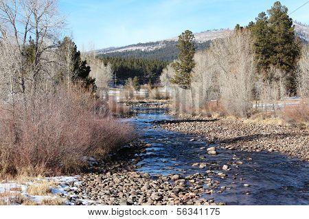 Winter on Florida River in Durango...