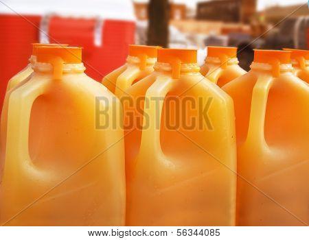 Orange Juice Jugs