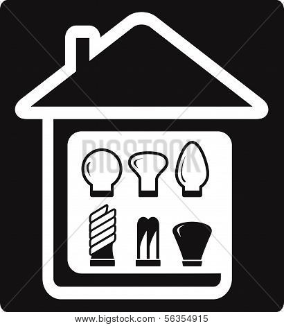 set bulb in home