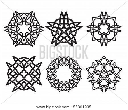 Set of knot design geometric elements