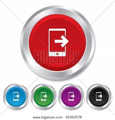 Responsabilizam ícone indicativo. Símbolo do smartphone.