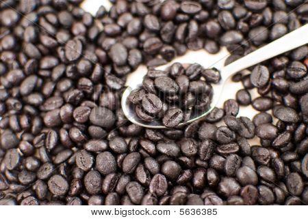 Coffee with teaspoon