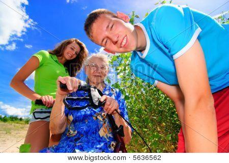 Grandma and grand kids