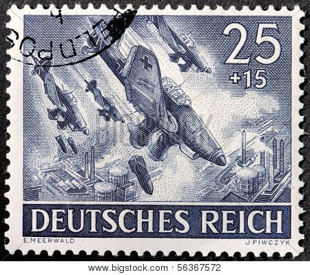 German Bomber Stamp
