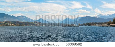 Panoramic view of old town of Lucerne, Switzerland