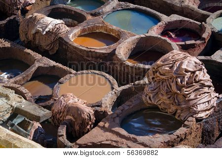 Tannery of Fes, Morocco, Africa
