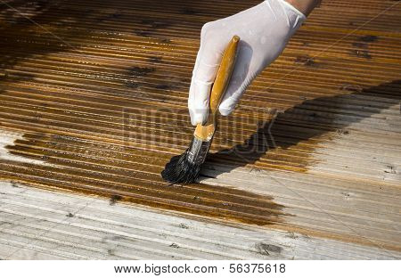 Painting Decking