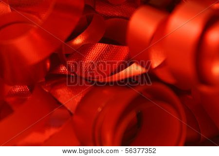 Red Curly Ribbon