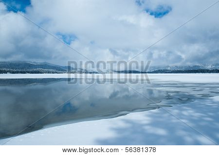 Lake Freezes in Winter