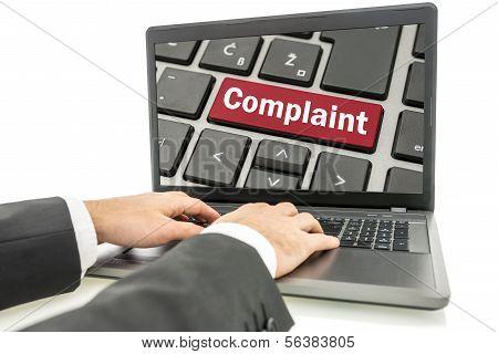 Businessman Responding To A Complaint