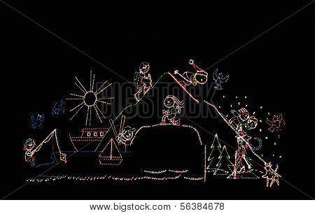 Winter Sports Theme Lights