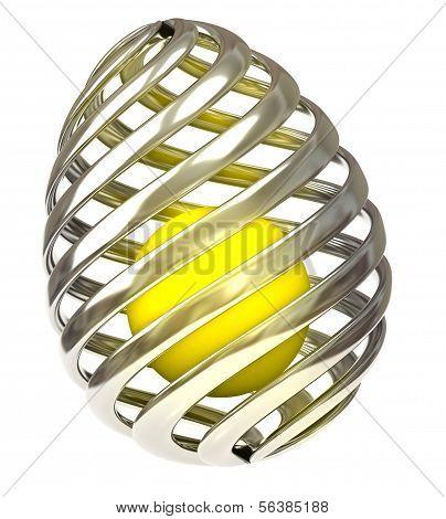 Stylized Easter egg,3d
