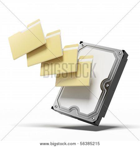 Festplatte und Ordner