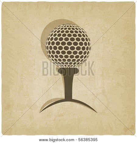 sport golf logo old background