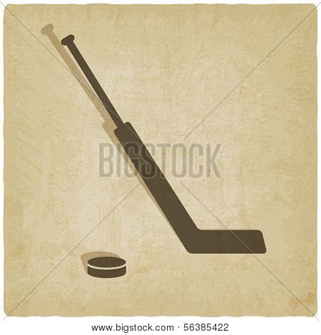 Sport Eishockey Logo alte Hintergrund