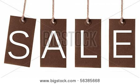 Sale Labels On White Background