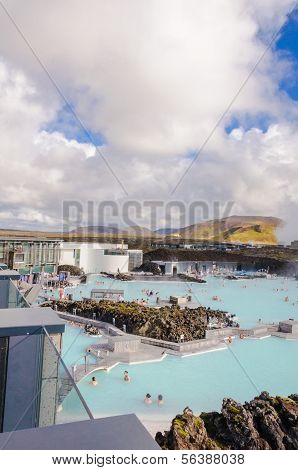 Blue Lagoon spa - Iceland , September 21 - famous Icelandic spa and Geothermal Power plant