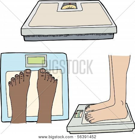 Feet And Bathroom Scales