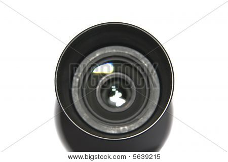 Professional Photo Lens Isolated On White background