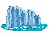 stock photo of iceberg  - hand drawn cartoon sketch illustration of iceberg - JPG