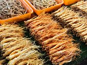 foto of ginseng  - Ginseng sell in Korean market - JPG