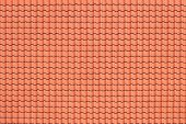 picture of roof tile  - Roof of a new house with red tiles - JPG