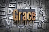 pic of salvation  - The word Grace written in vintage letterpress type - JPG