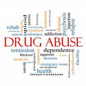 stock photo of methadone  - Drug Abuse Word Cloud Concept with great terms such as addiction heroin disease relapse and more - JPG