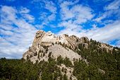 picture of mount rushmore national memorial  - National Memorial Mount Rushmore in South Dakota - JPG