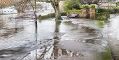 stock photo of avon  - River Avon major flood UK 2014  - JPG