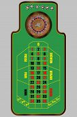 picture of roulette table  - illustration of french roulette table view from above - JPG