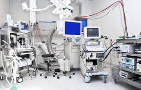 foto of medical equipment  - Operating Room with a lot of Medical Equipment.