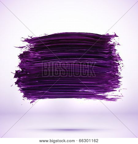 Purple paint texture stain with shadow