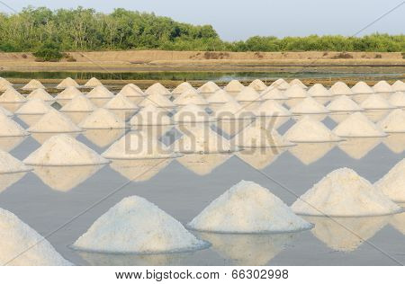 Sea Salt Evaporation Pond
