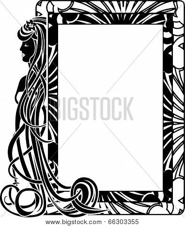 Ornamental frame in style Art Nouveau