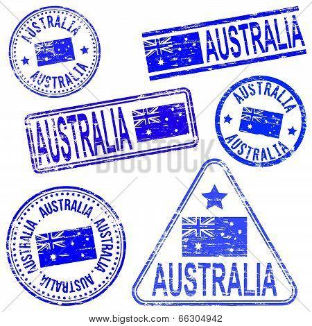 Australia Rubber Stamps