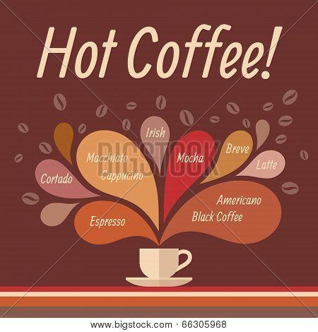 Hot Coffee - Conceptual Vector Illustration