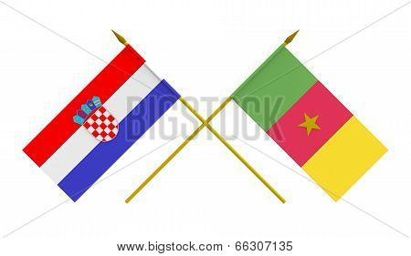 Flags, Croatia And Cameroon