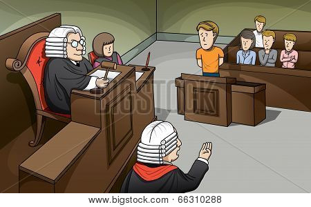 Trial in Court