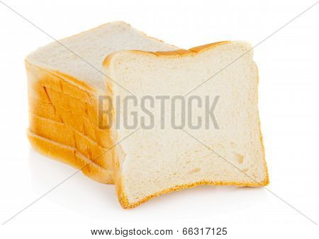 Raw Toast Bread Slices