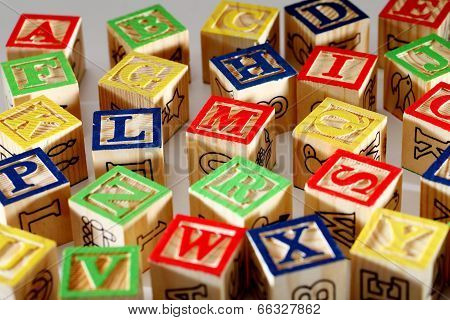Closeup Of Abc Blocks
