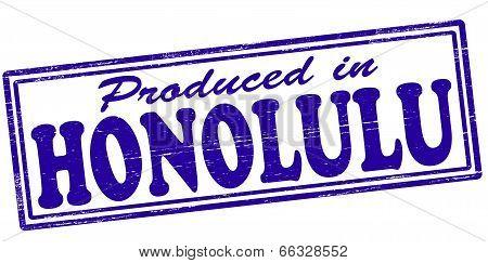 Produced In Honolulu